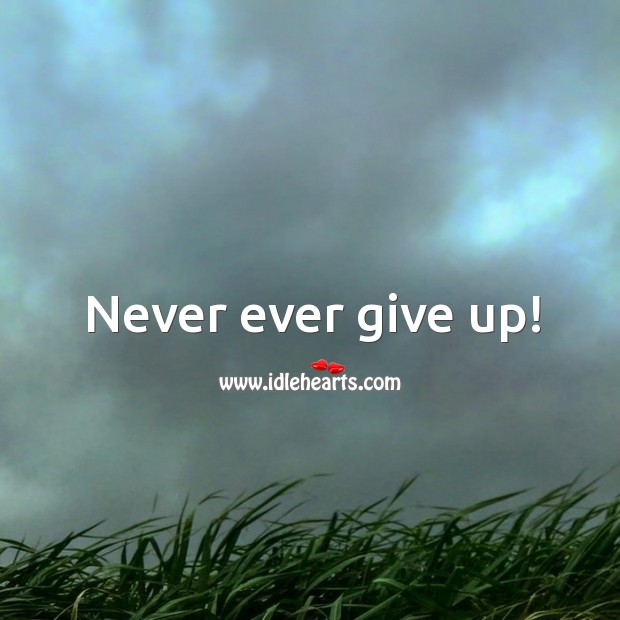 Image, Never ever give up!