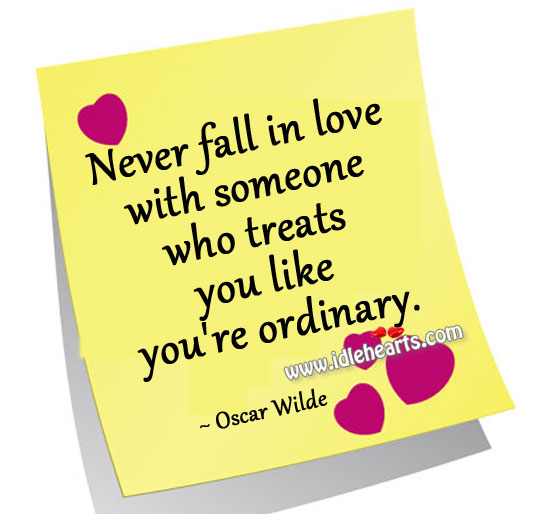 Never Fall In Love With Someone Who