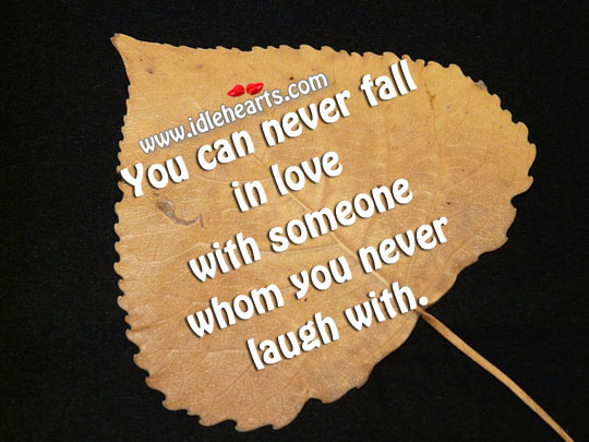 You Can Never Fall In Love With Someone