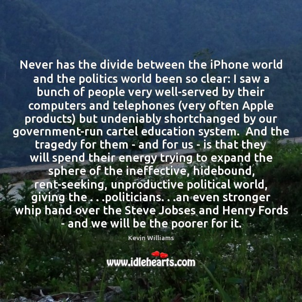 Never has the divide between the iPhone world and the politics world Image