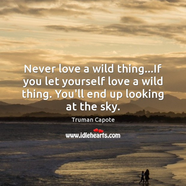 Image, Never love a wild thing…If you let yourself love a wild