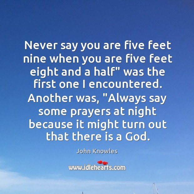 Image, Never say you are five feet nine when you are five feet