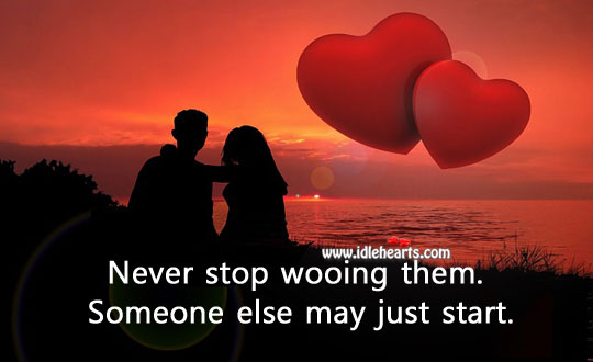 Never stop showing your love. Image