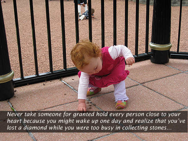 Image, Never take someone for granted