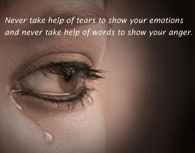 Image, Never take the help of words to show anger.