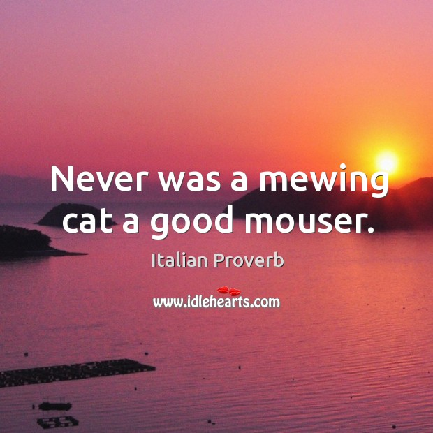 Image, Never was a mewing cat a good mouser.