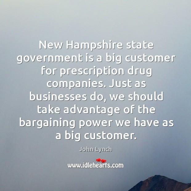 New hampshire state government is a big customer for prescription drug companies. Image