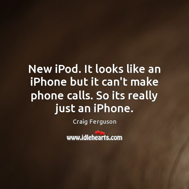 New iPod. It looks like an iPhone but it can't make phone Image
