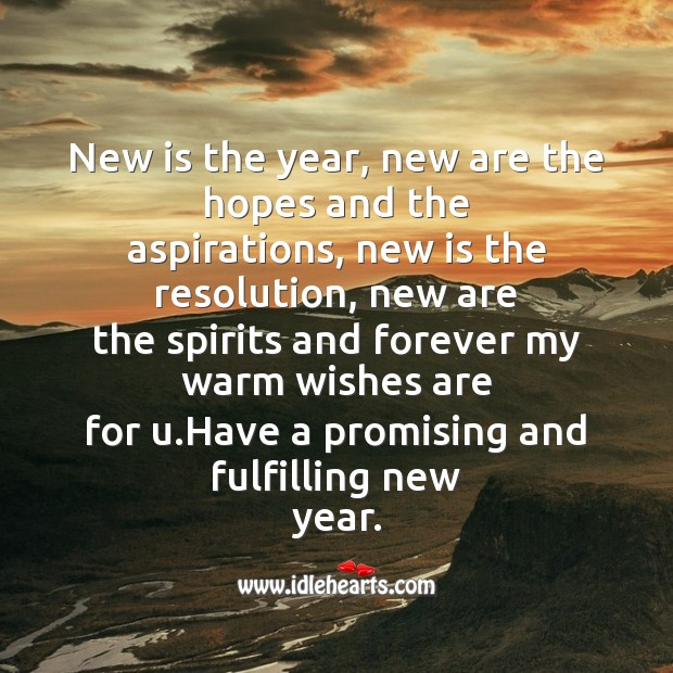 Image, New is the year, new are the hopes