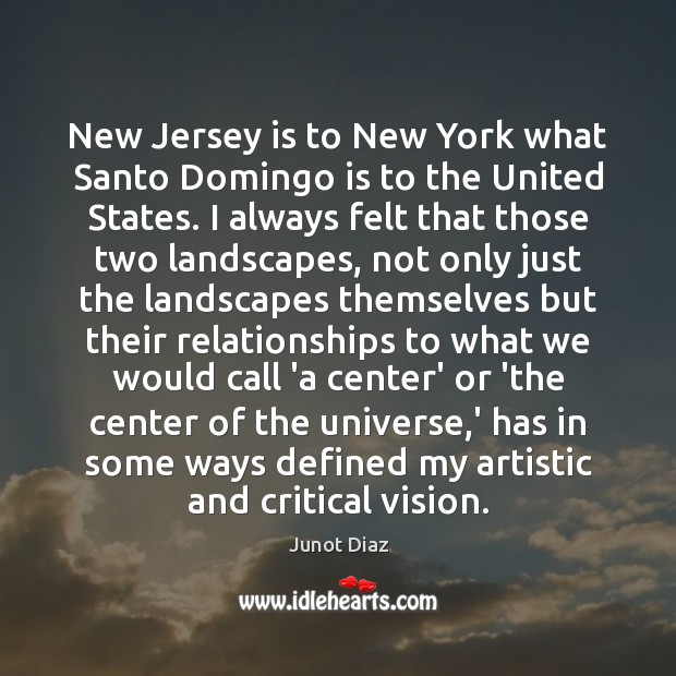 New Jersey is to New York what Santo Domingo is to the Image