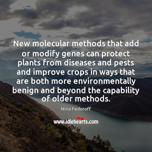 Image, New molecular methods that add or modify genes can protect plants from