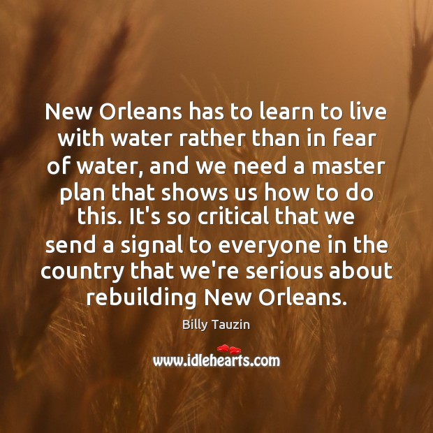 Image, New Orleans has to learn to live with water rather than in