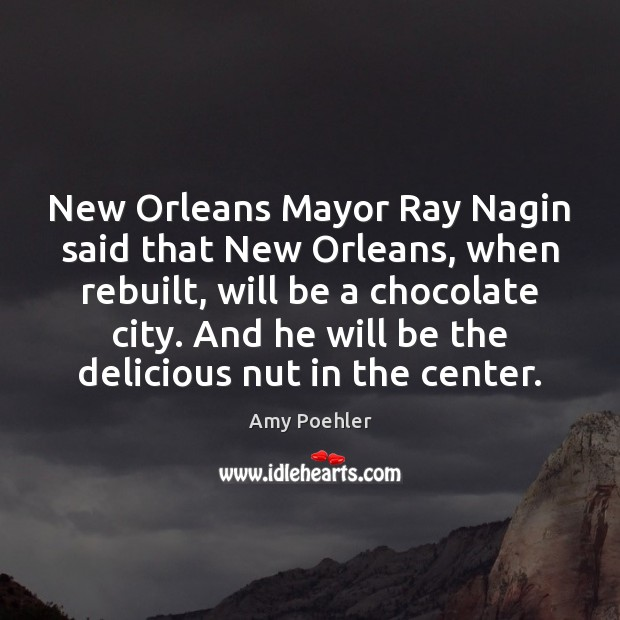 New Orleans Mayor Ray Nagin said that New Orleans, when rebuilt, will Amy Poehler Picture Quote