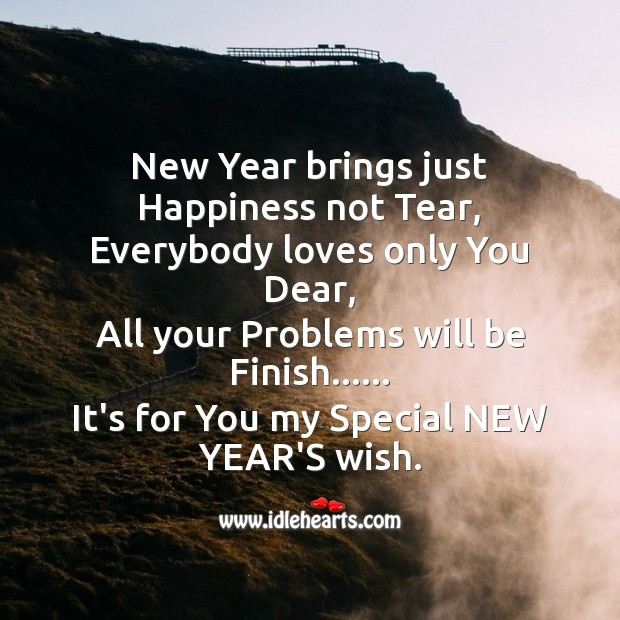 Image about New year brings just happiness not tear