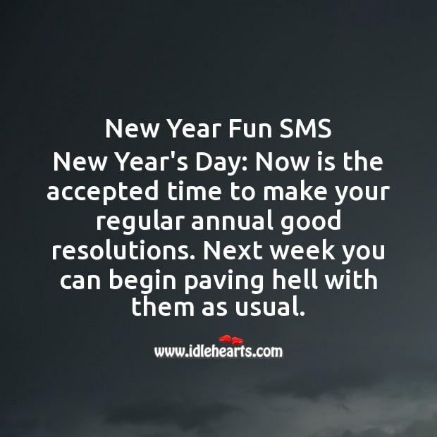 Image, New year fun sms