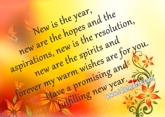 Wishing everyone a Very Promising, Fulfilling and Happy New Year