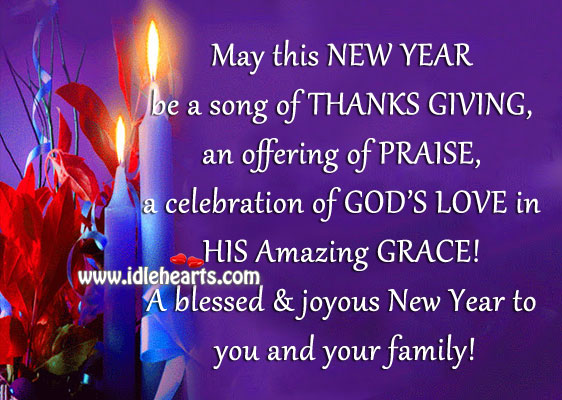Have a Blessed & Happy New Year Dear!