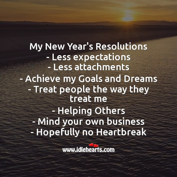 Image, New year's resolutions