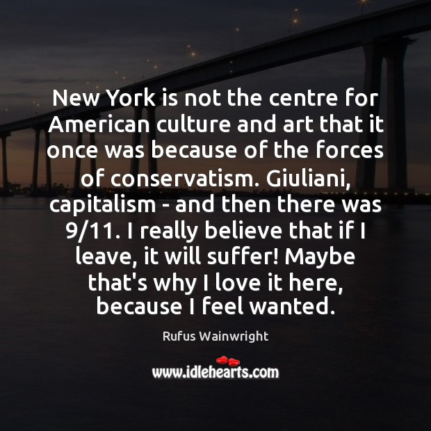 Image, New York is not the centre for American culture and art that