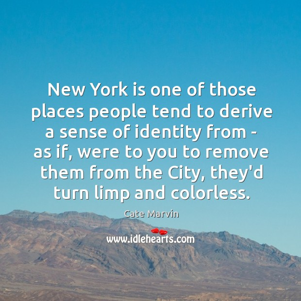 New York is one of those places people tend to derive a Cate Marvin Picture Quote