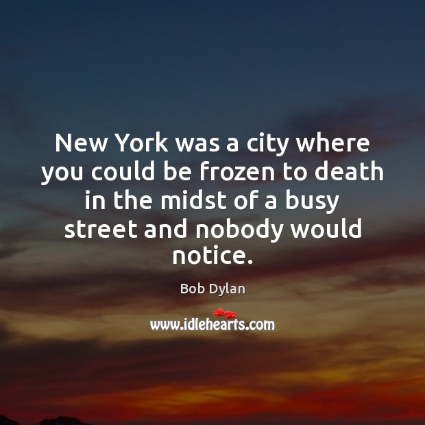 Image, New York was a city where you could be frozen to death