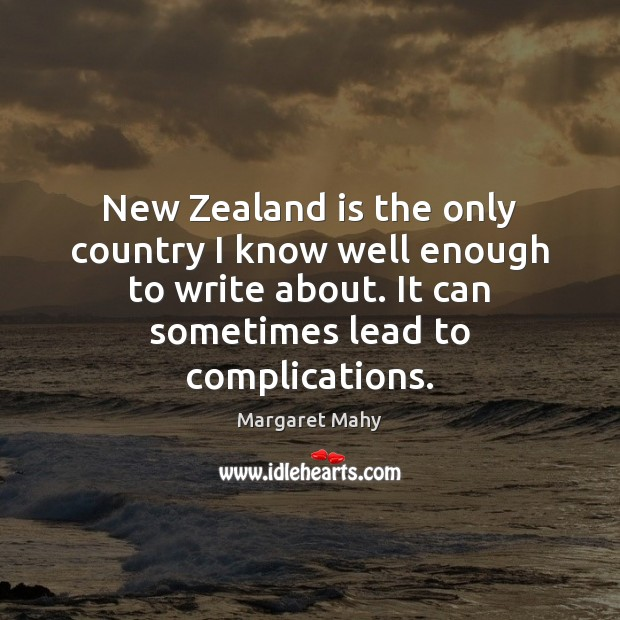 Image, New Zealand is the only country I know well enough to write