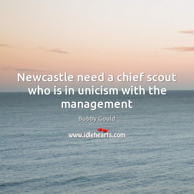 Image, Newcastle need a chief scout who is in unicism with the management