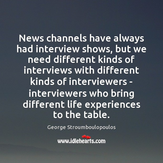 News channels have always had interview shows, but we need different kinds Image