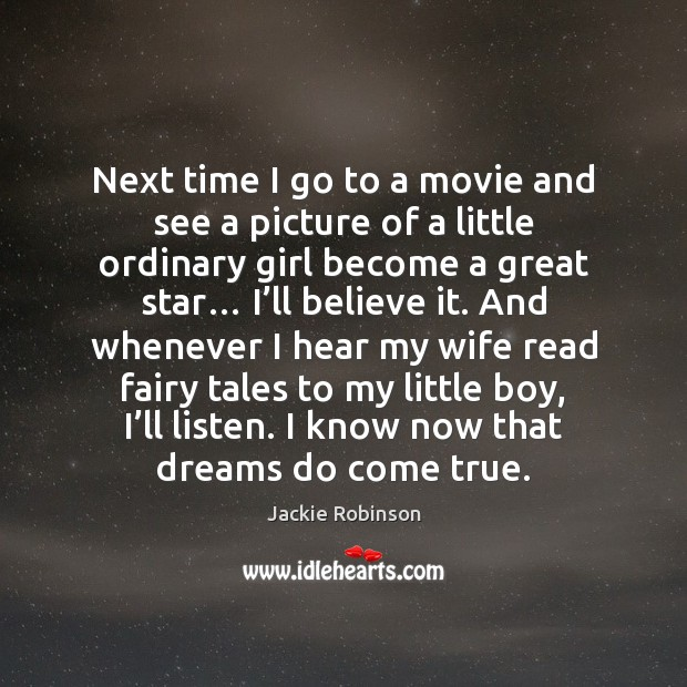 Image, Next time I go to a movie and see a picture of