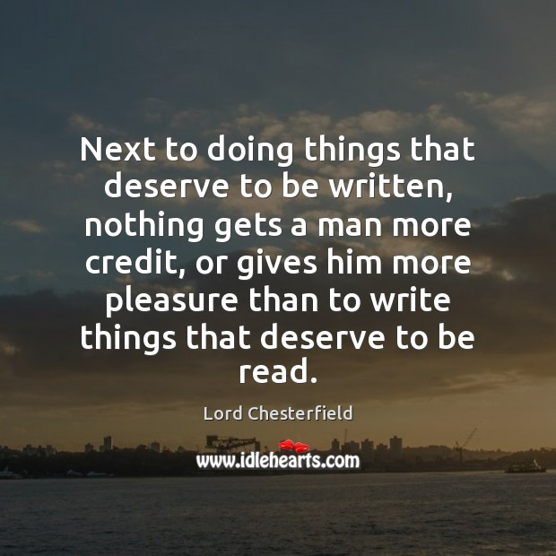 Picture Quote by Lord Chesterfield