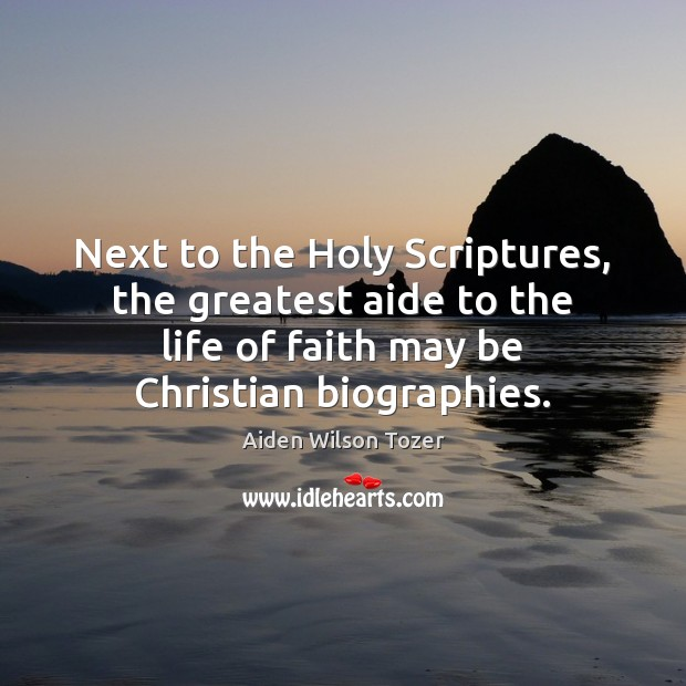 Image, Next to the Holy Scriptures, the greatest aide to the life of