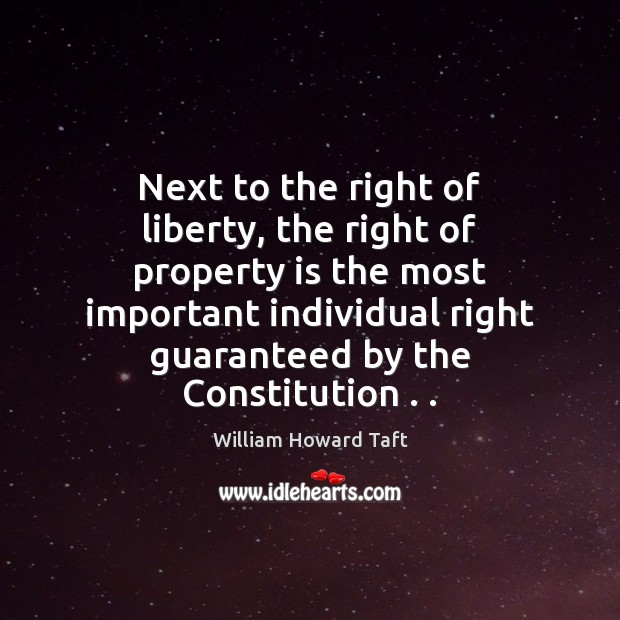 Next to the right of liberty, the right of property is the Image