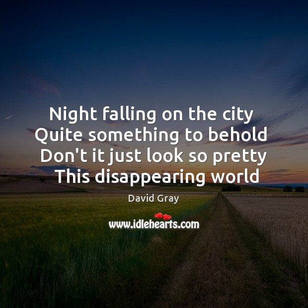 Night falling on the city  Quite something to behold  Don't it just Image