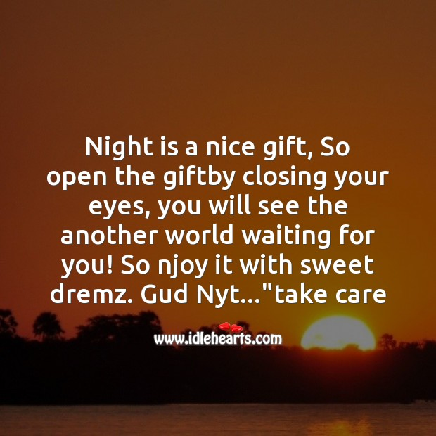 Image, Night is a nice gift