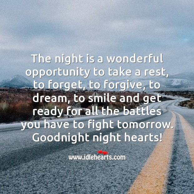 Night is a wonderful opportunity Image