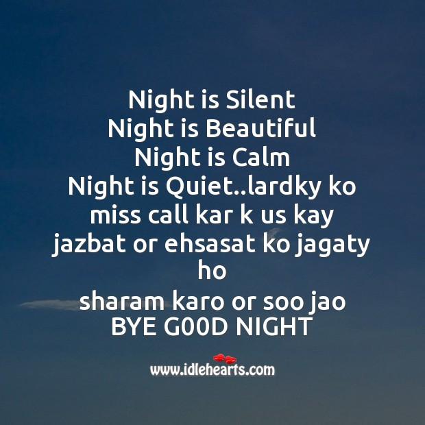 Image, Night is silent  night is beautiful