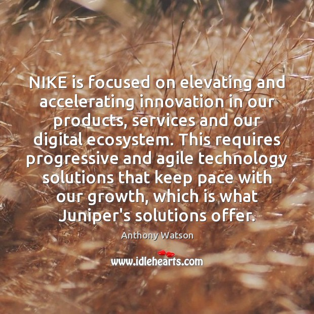 Image, NIKE is focused on elevating and accelerating innovation in our products, services