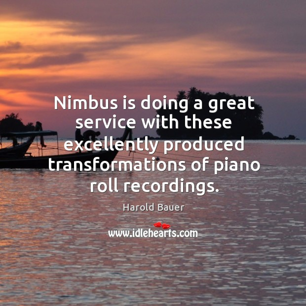Nimbus is doing a great service with these excellently produced transformations of piano roll recordings. Image