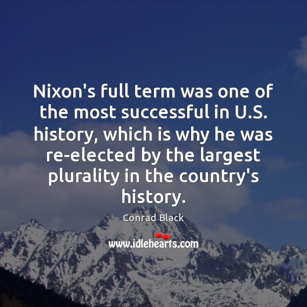 Nixon's full term was one of the most successful in U.S. Image