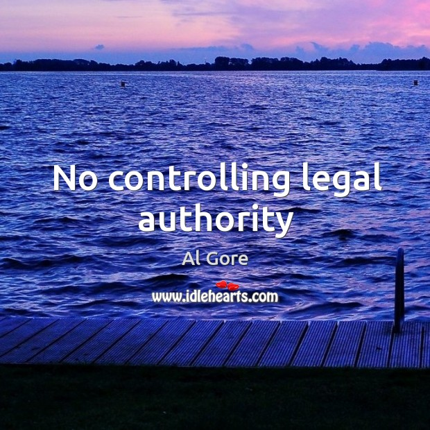 Image, No controlling legal authority