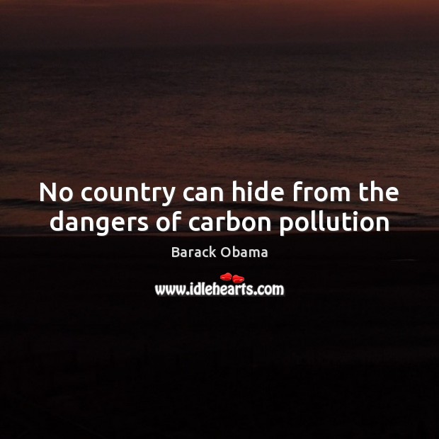 No country can hide from the dangers of carbon pollution Image