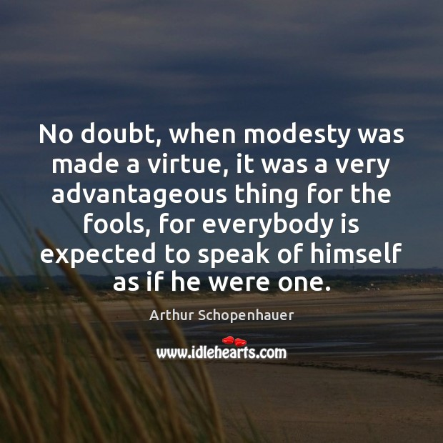 No doubt, when modesty was made a virtue, it was a very Image