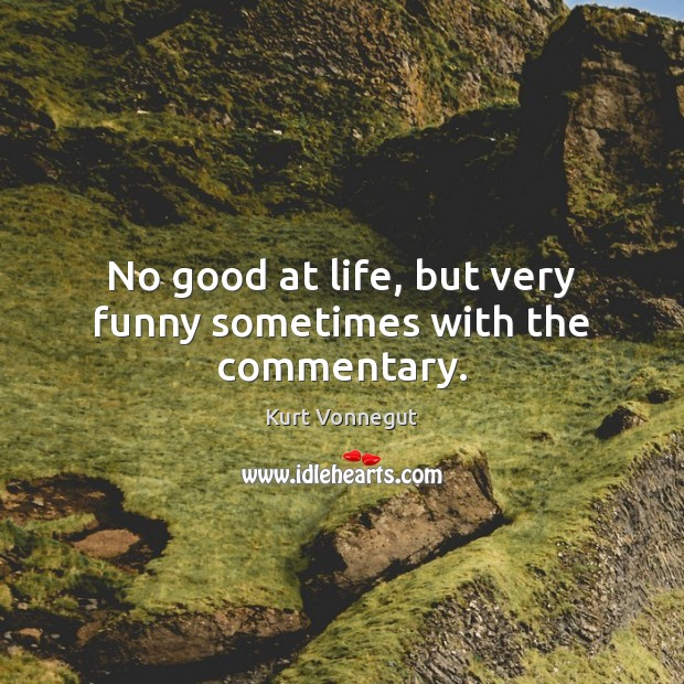 No Good At Life But Very Funny Sometimes With The Commentary