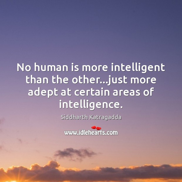 Image, No human is more intelligent than the other…just more adept at
