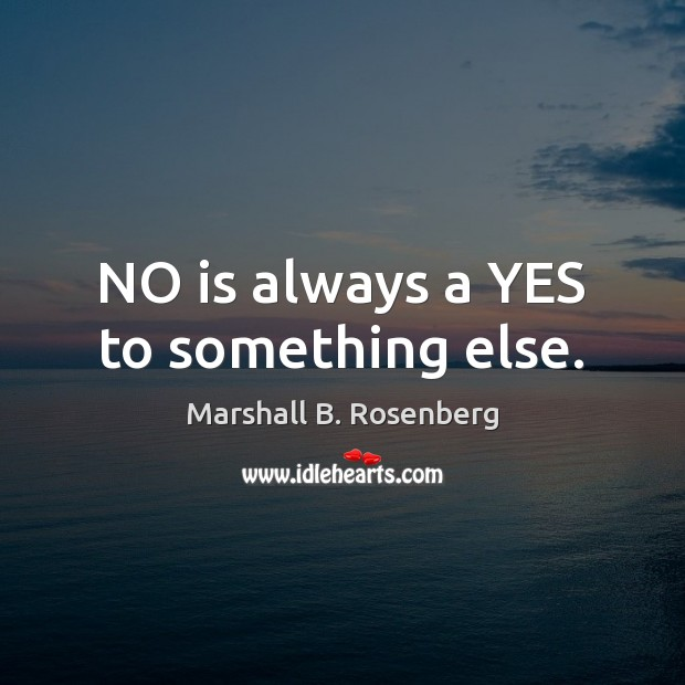NO is always a YES to something else. Image