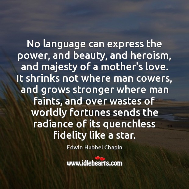 No language can express the power, and beauty, and heroism, and majesty Edwin Hubbel Chapin Picture Quote