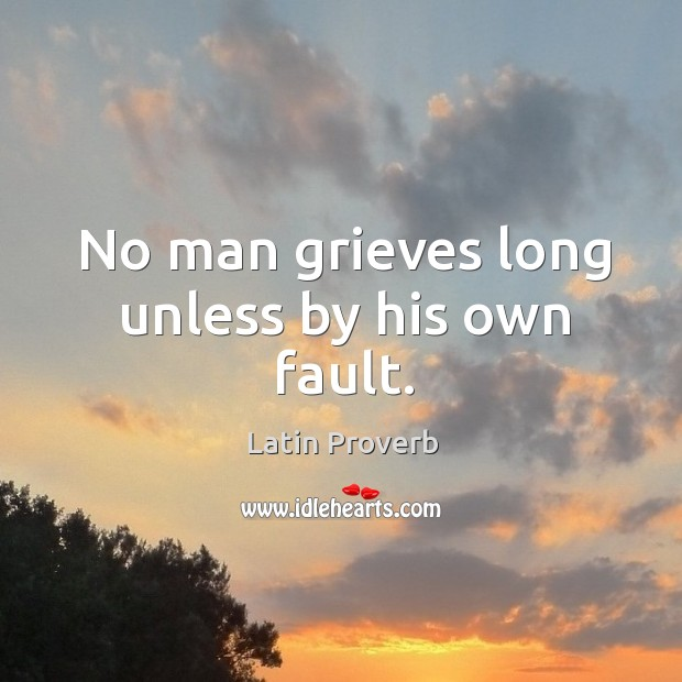 Image, No man grieves long unless by his own fault.