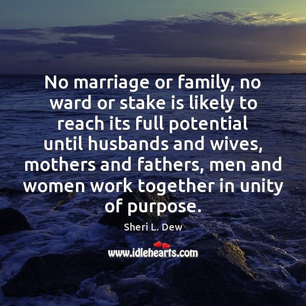 Image, No marriage or family, no ward or stake is likely to reach