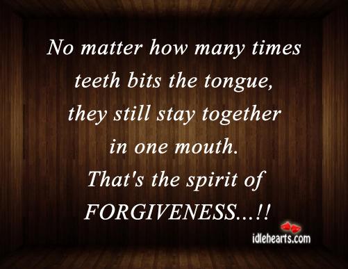 No Matter How Many Times Teeth Bits The Tongue…