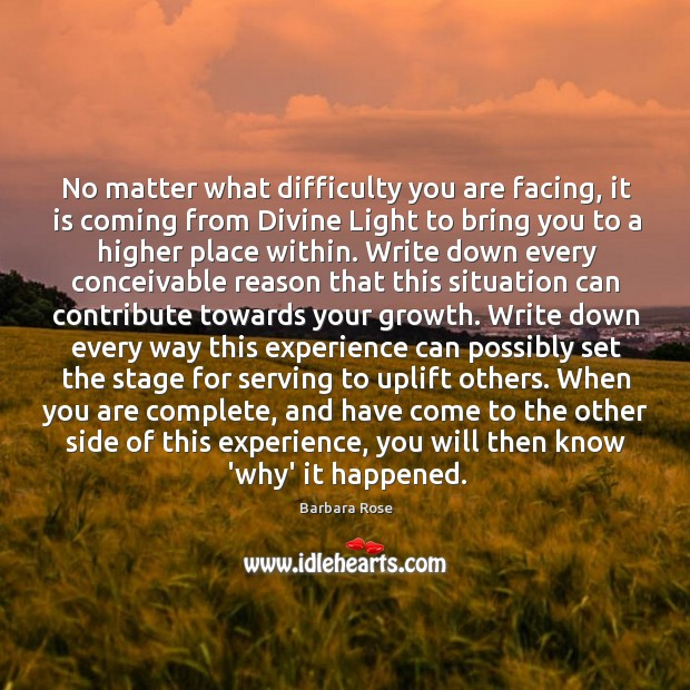 Image, No matter what difficulty you are facing, it is coming from Divine